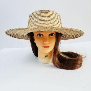 NWT RVCA Wide Brim Penny Straw Hat